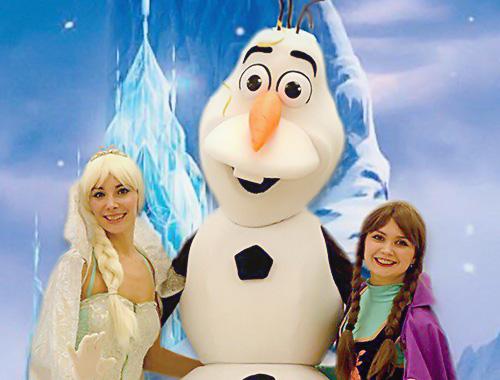 Праздничная программа с детскими аниматорами Холодное Сердце